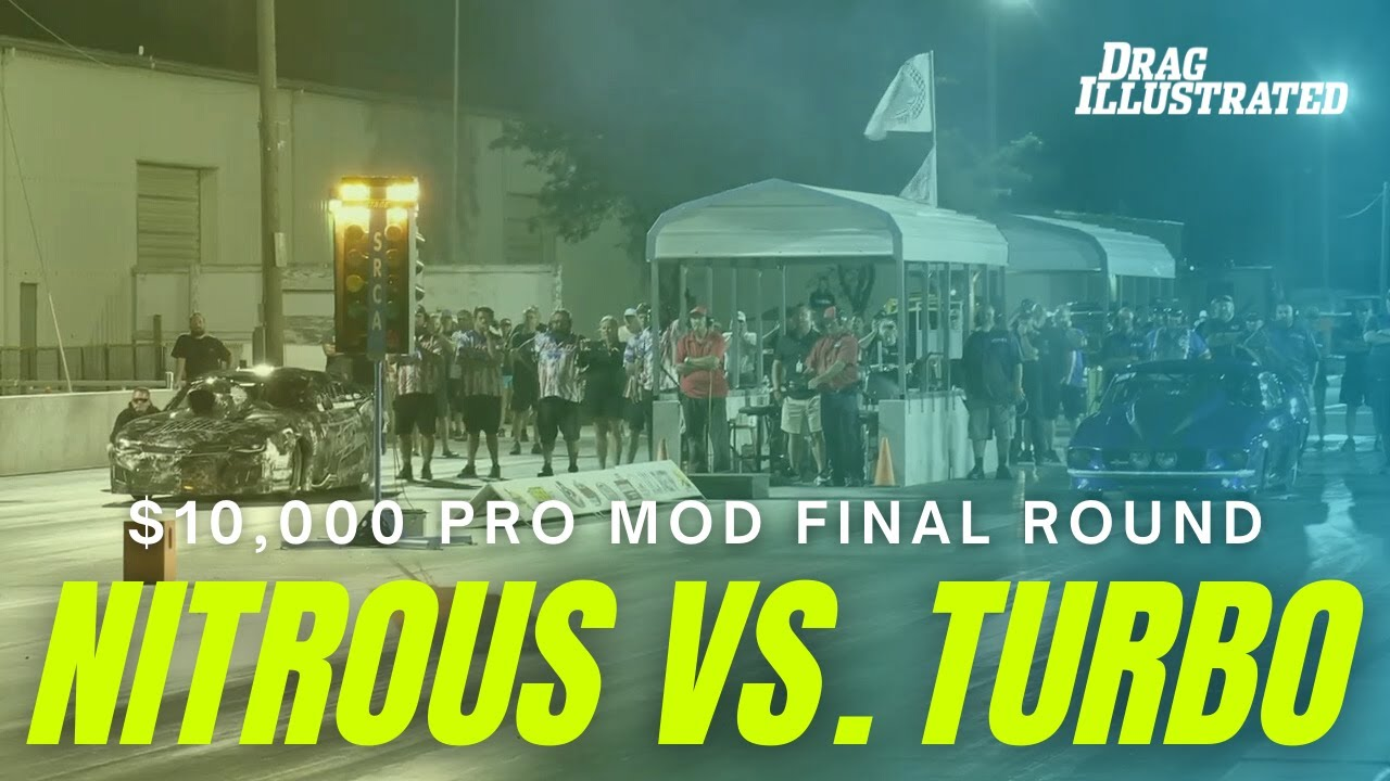 $10,000 TURBO VS. NITROUS PRO MOD FINAL - 214 MPH TO THE EIGHTH-MILE!   Drag Illustrated