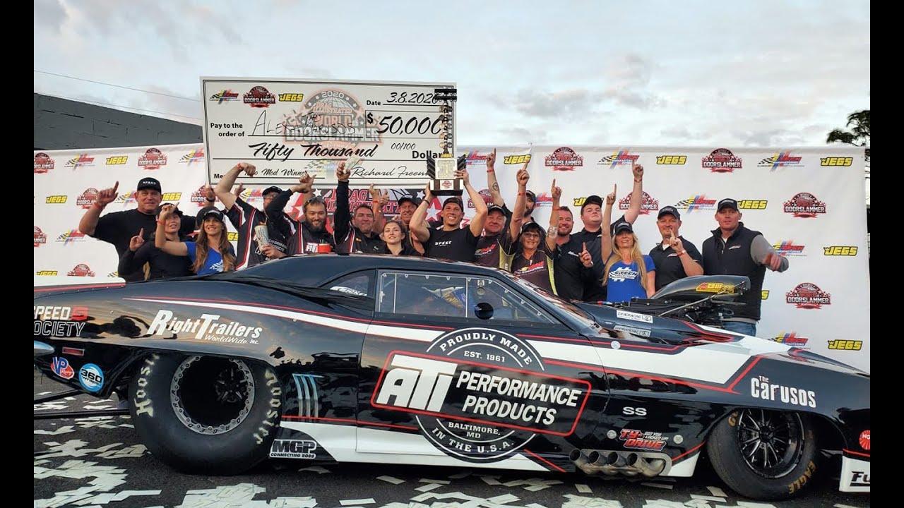 Alex Laughlin WINNER $$ 50,000 $$🏁 Drag Illustrated World Doorslammer Nationals Orlando Speed World!