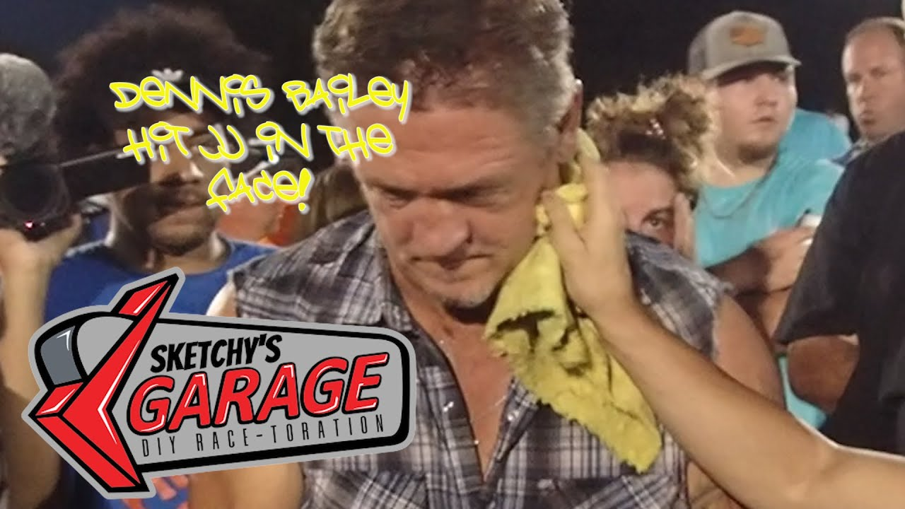Dennis Bailey hits JJ in the Face| Sketchy's Garage