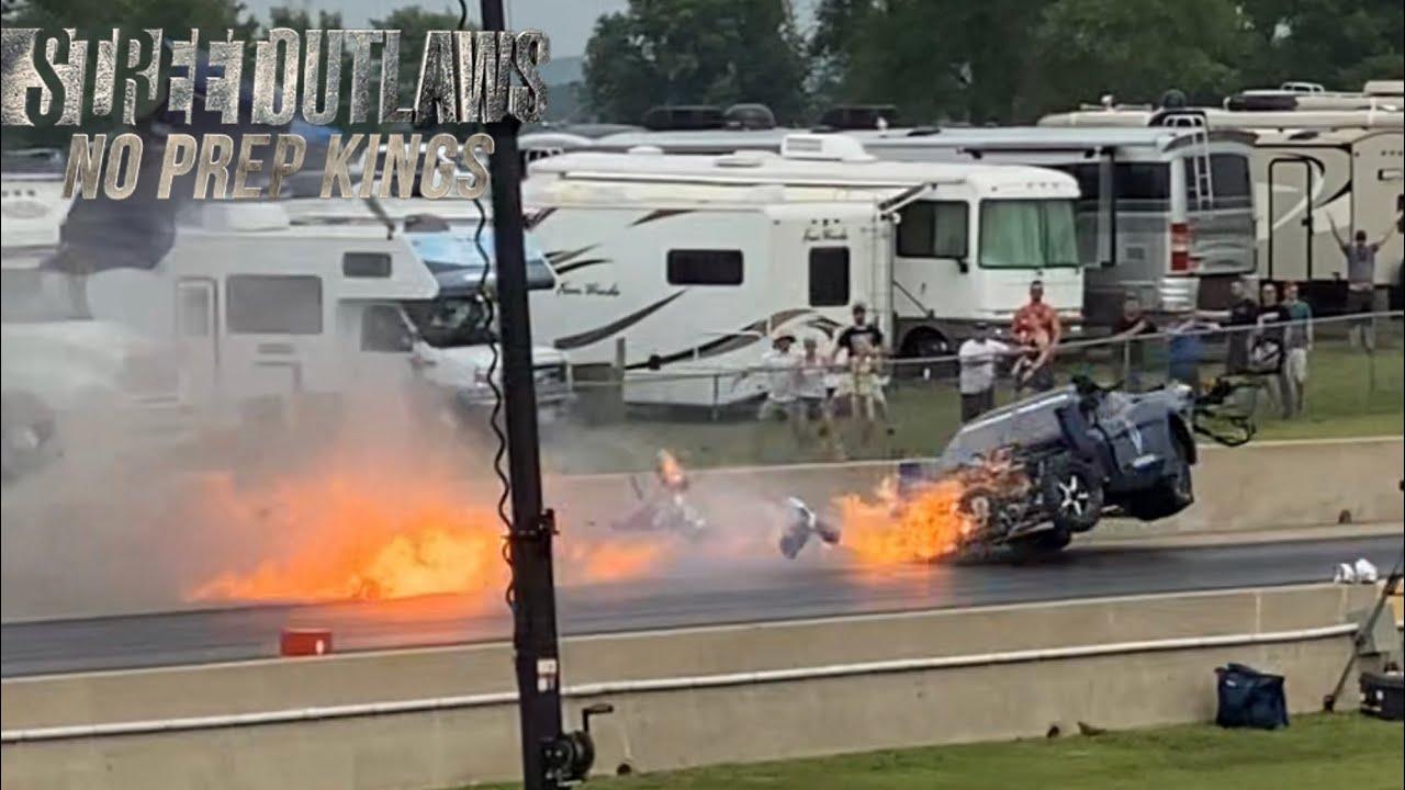 Eric Bain HUGE CRASH Street Outlaws No Prep Kings Cordova Season 4