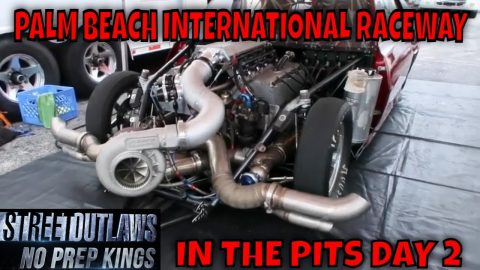 STREET OUTLAWS NO PREP KINGS 2021 PALM BEACH FLORIDA - DAY 2 IN THE PITS