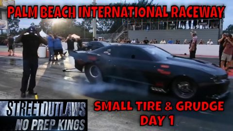 STREET OUTLAWS NO PREP KINGS 2021 PALM BEACH FLORIDA - DAY 1 SMALL TIRE & GRUDGE