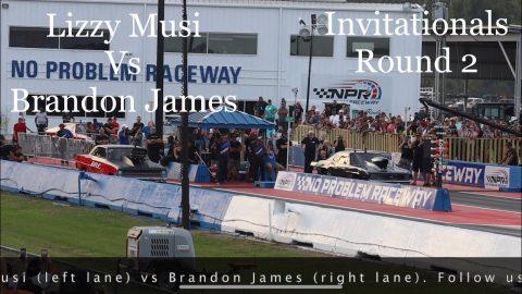 Street outlaws no prep kings Belle Rose, LA- Lizzy Musi vs Brandon James: Invitationals round 2