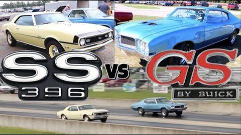 1968 Camaro SS vs 1970 Buick GS455 - PURE STOCK DRAG RACE (single heads up)