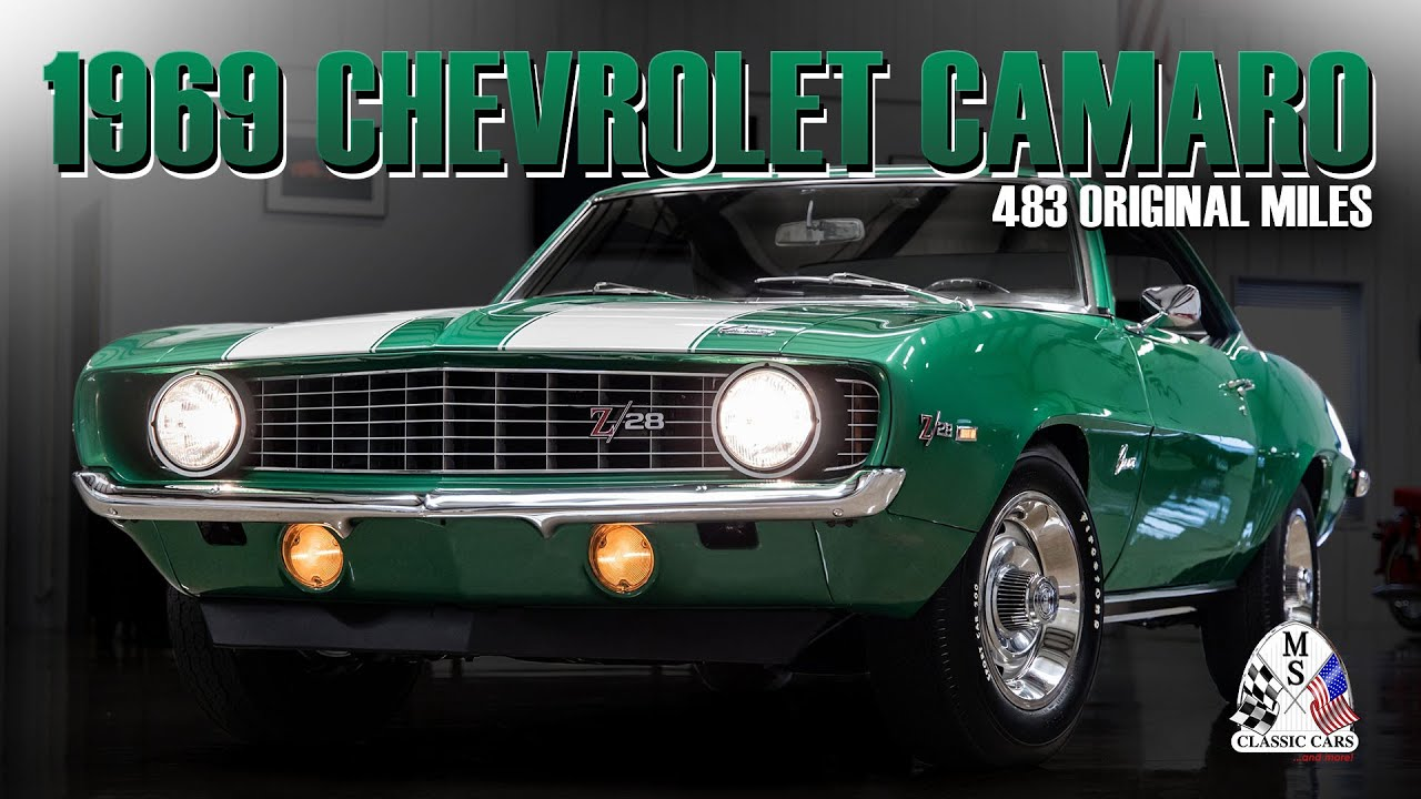 1969 Chevrolet Camaro Z28 w/ 483 Original Miles!