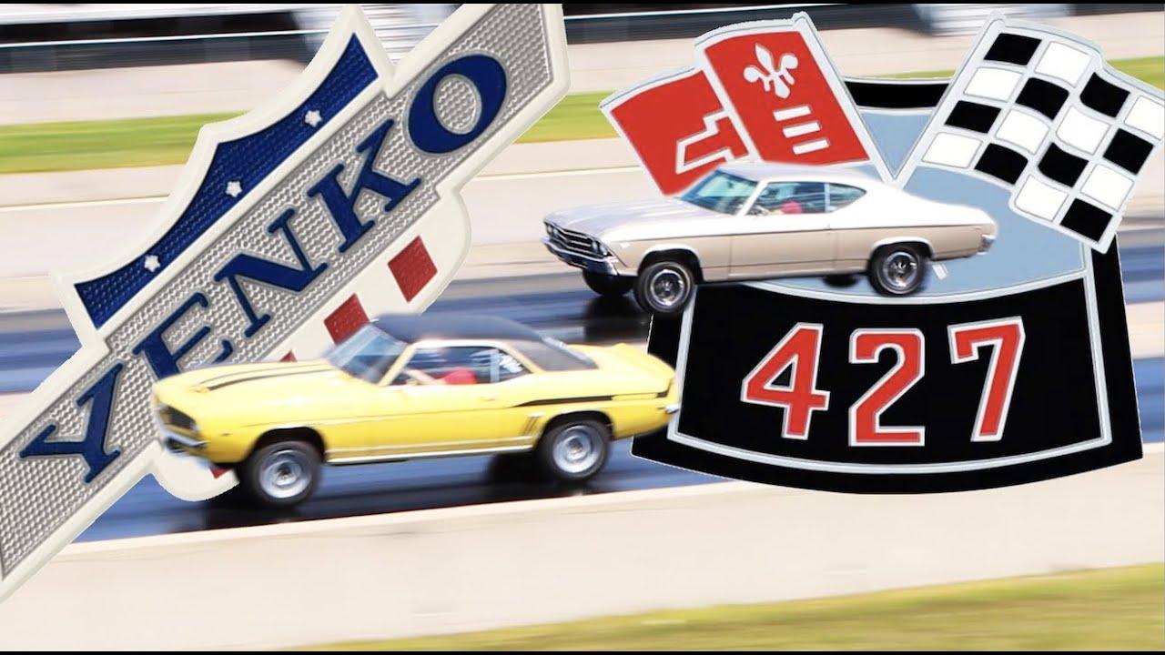 1969 Chevrolet Yenko Camaro drag racing 1969 Chevrolet COPO Chevelle   FACTORY STOCK DRAG RACE