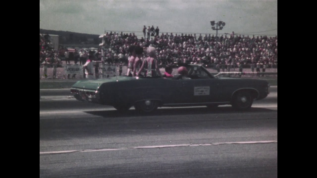 1969 Super Stock Nationals York PA Drag Racing - Fast Cars and Fast Girls in Bikinis!