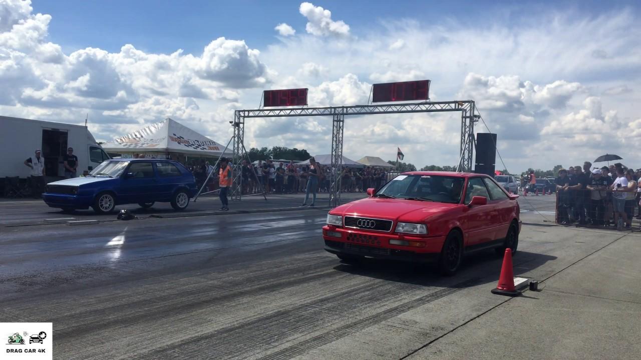 Audi S2 vs VW Golf 1.9 TDI drag race 1/4 mile 🚦🚗💥 - 4K