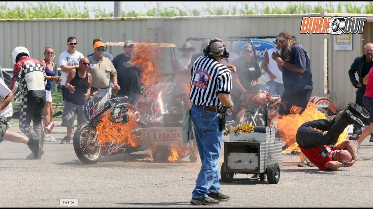 BURNOUT - Reaction Time on Top Fuel Motorcycle Fire (from Ep 1)