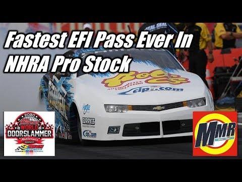 Fastest Pass In An EFI NHRA Pro Stock From Matt Hartford