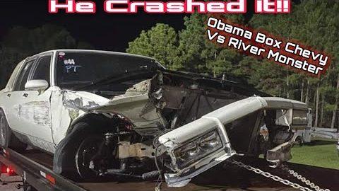 He Crashed It!! | Obama Box Chevy Vs River Monster Camaro!! | Drag Racing Crash!
