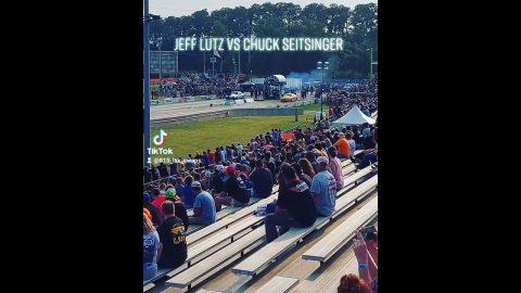 Jeff Lutz vs Chuck Seitsinger Grudge Race No Prep Kings Cordova Dragway#shorts