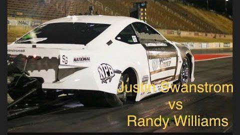 Justin Swanstrom vs Doc Love first round invitational race Street Outlaws NPK Tulsa Oklahoma 2021