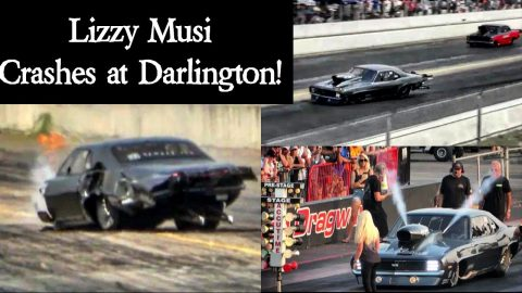 Lizzy Musi Crashes at Darlington!!!