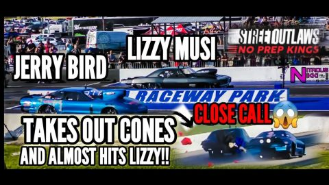 😳NO PREP KINGS LIZZY MUSI ALMOST GETS TAKEN OUT BY NOLA TEAMMATE JERRY BIRD WHEN CONES GO FLYING 😱