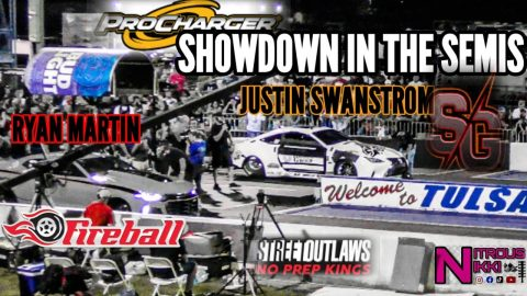 STREET OUTLAWS NO PREP KINGS TULSA SEMIFINALS RYAN MARTIN PROCHARGER SHOWDOWN WITH JUSTIN SWANSTROM