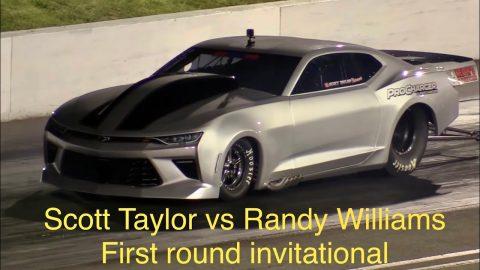 Scott Taylor vs Randy Williams first round invitational at Street Outlaws NPK Tulsa Oklahoma 2021