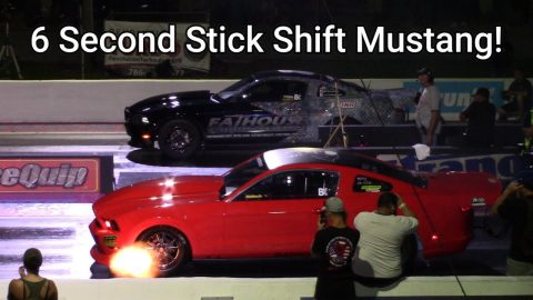 Stick Shift Turbo Coyote Mustang Breaks Into The 6s Lining Up With 7 Second Turbo Mustangs at FL2K