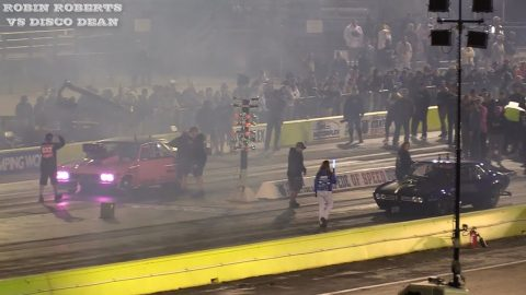 Street Outlaws 2021 No Prep Kings - Round 3 Robin Roberts vs Disco Dean - Texas Motorplex