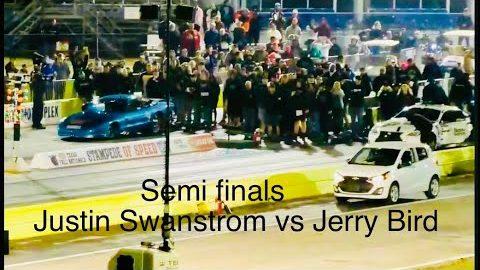 Street Outlaws NPK Ennis Texas semi finals Justin Swanstrom vs Jerry Bird!