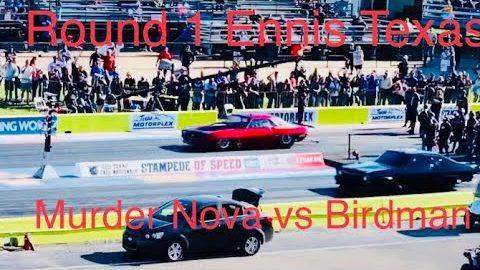 Street Outlaws No prep kings Ennis Tx! Round 1 invitational! Murder Nova vs Birdman! #streetoutlaws