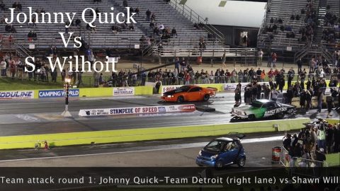 Street outlaw No prep kings Ennis Tx 2021; Johnny Quick vs Shawn Wilhoit- Team attack R1