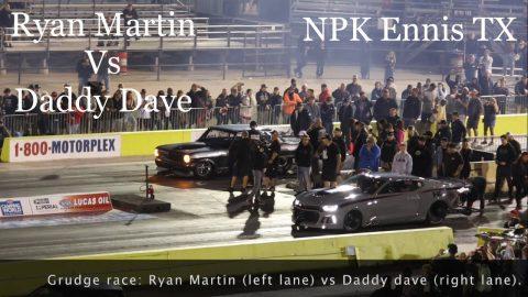 Street outlaws No prep Kings Ennis Tx; Ryan Martin Vs Daddy Dave- grudge race