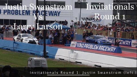 Street outlaws No prep kings Belle Rose, LA- Justin Swanstrom vs Larry Larson. Invitationals Round 1