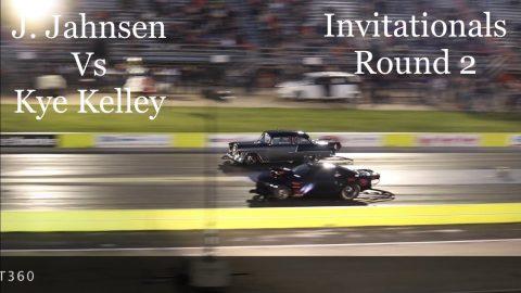 Street outlaws No prep kings Ennis Tx; Kye Kelley Vs Jerry Jahnsen- invitationals round 2