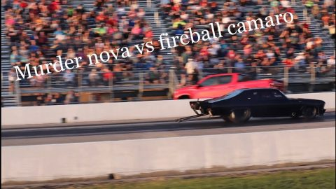Street outlaws No prep kings Tulsa 2021 Murder nova vs fireball camaro grudge race