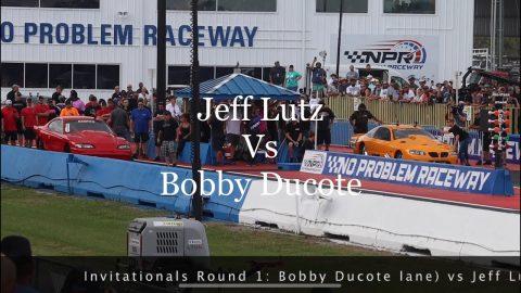 Street outlaws no prep kings Belle Rose, LA: Jeff Lutz vs Bobby Ducote- invitationals Round 1
