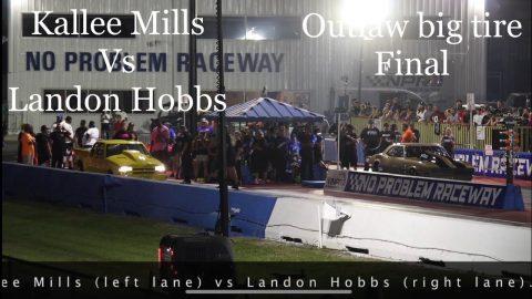 Street outlaws no prep kings Belle Rose, LA. Outlaw Big Tire final: Kallee Mills vs Landon Hobb