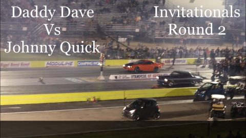 Street outlaws no prep kings Ennis Tx; Daddy Dave Vs Johnny Quick. Invitationals round 2