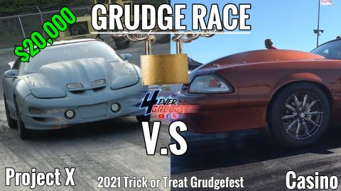 TRICK OR TREAT GRUDGEFEST 2021| $20,000 GRUDGE RACE | PROJECT X TRANS-AM VS CASINO MUSTANG !! WOW ..