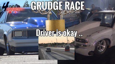 WILD GRUDGE RACE | PRETTY BOY BLUE MALIBU VS GARFIELD TRUCK !! TRUCK GOES UP AND HIT THE WALL !!!